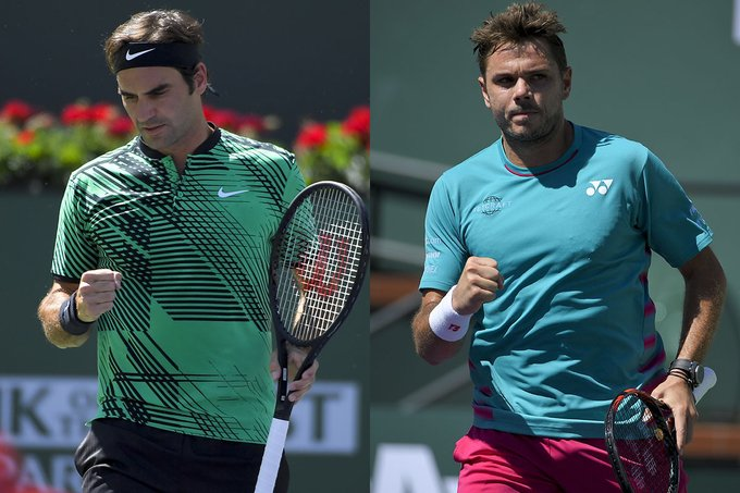 Federer, Wawrinka To Play For Indian Wells Title