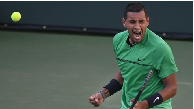 Nick Kyrgios beat Novak Djokovic, 6-4, 7-6 (3), to reach the Indian Wells quarter final