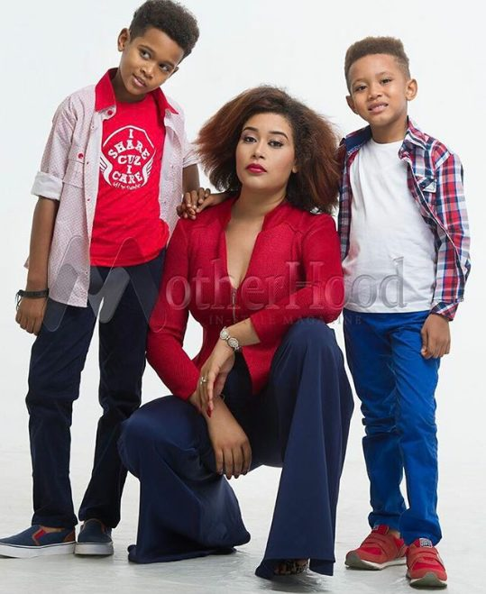 Adunni Ade and her two Cute sons covers Motherhood In-style Magazine, opens up about 'how she tried to commit suicide'