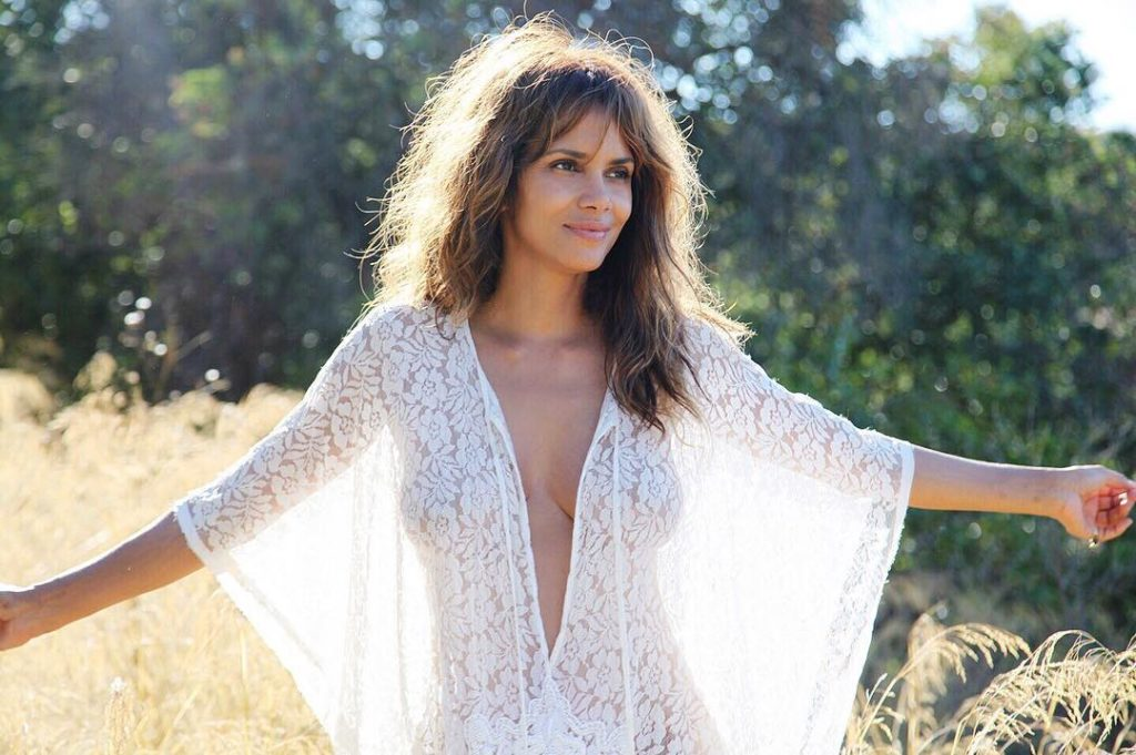 Halle Berry gets Raunchy and Naked in See-through White Sheer Dress
