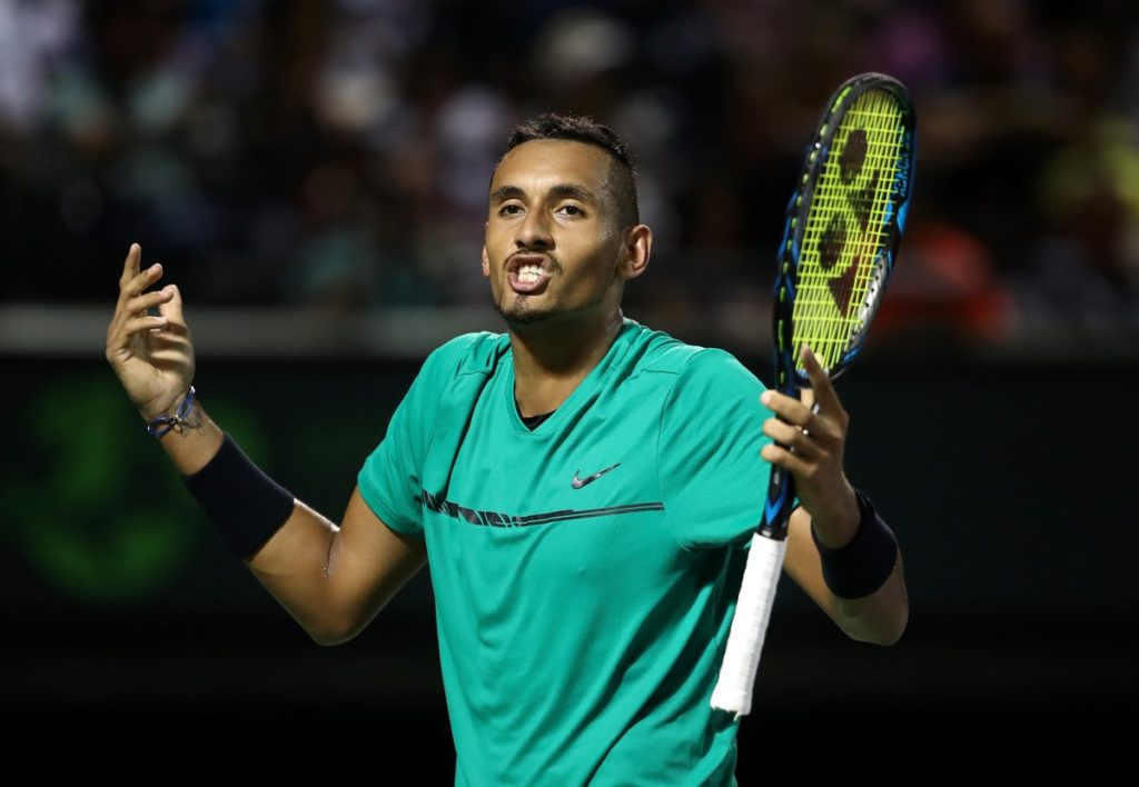 Vintage Federer Edges Kyrgios, 7-6, 6-7, 7-6, Will Face Nadal In Miami Final