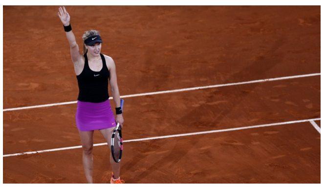 Eugenie Bouchard Upset Maria Sharapova 7-5, 2-6, 6-4 to reach round 3 in Madrid Open 2017