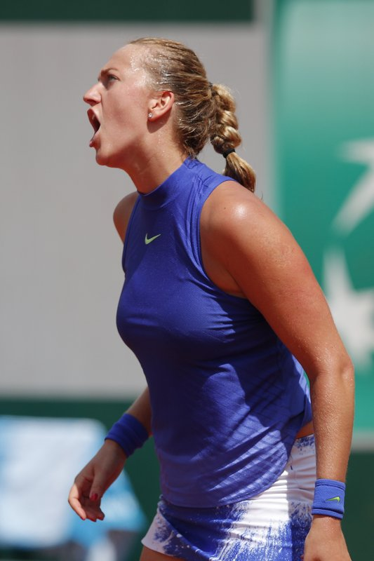 Kvitova fairytale Ends,losing 7-6 (5), 7-6 (5) to Mattek-Sands at the French Open Round Two