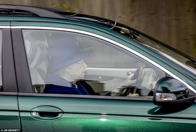 Queen Elizabeth, 91 spotted driving her Jaguar