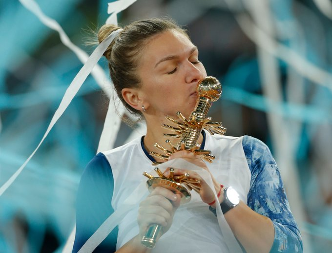Simona Halep Defeats Kristina Mladenovic 7-5, 6-7 (5), 6-2 To Win Madrid Open 2017