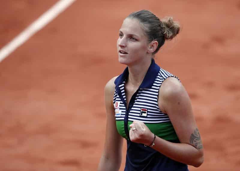 Karolina Pliskova at the french open 2017