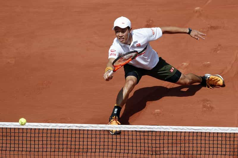 8th Seeded Kei Nishikori  Beat Fernando Verdasco 0-6, 6-4, 6-4, 6-0  to reach French Open QF