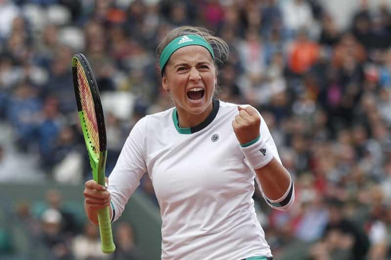 Jelena Ostapenko, beat former No. 1 Caroline Wozniacki 4-6, 6-2, 6-2 at the French Open