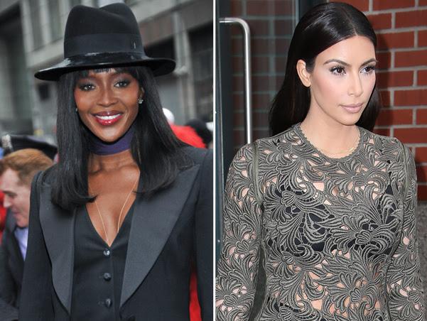 Kim Kardashian Shares  Nude Photos of Naomi Campbell