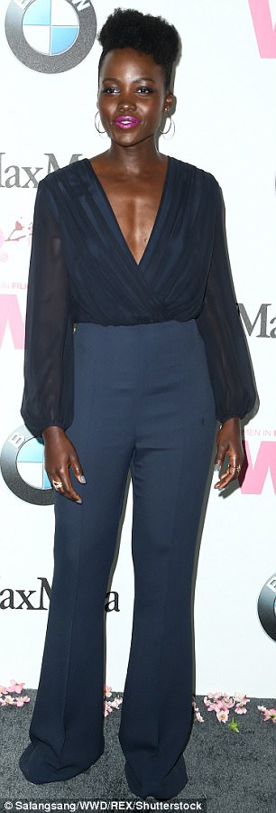 Lupita Nyong'o Wows In Cleavage Baring Dress