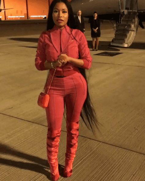 Nicki Minaj Claps Back at Her Haters As She Catwalks Into Private Jet
