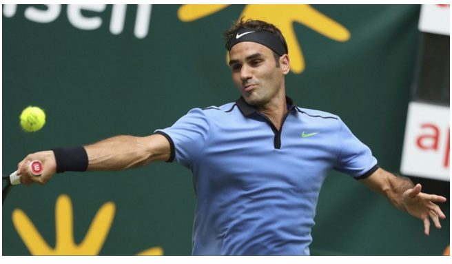 Roger Federer advanced to the semifinals of Gerry Weber Open, Defeating  Florian Mayer 6-3, 6-4