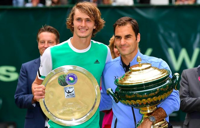 Roger Federer defeat Alexander Zverev 6-1, 6-3 to win the Gerry Weber Open for a record ninth time