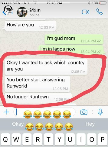 Runtown's mother super Hilarious Advices his Son to change his name to Runworld