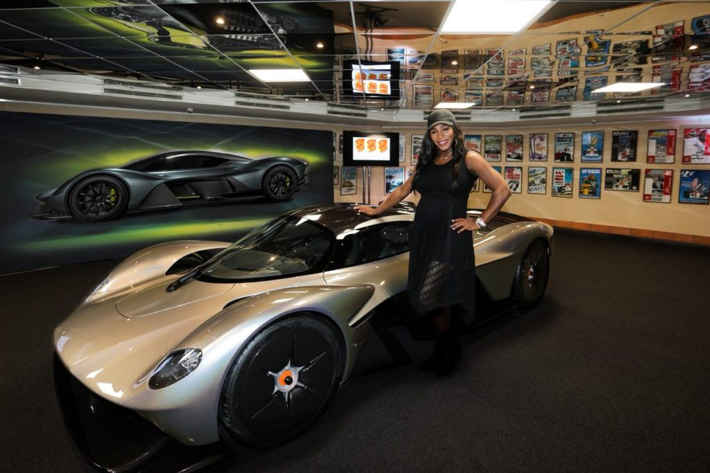 Serena Williams Gives Sport Car Lovers a Tour of the Aston Martin Valkyrie