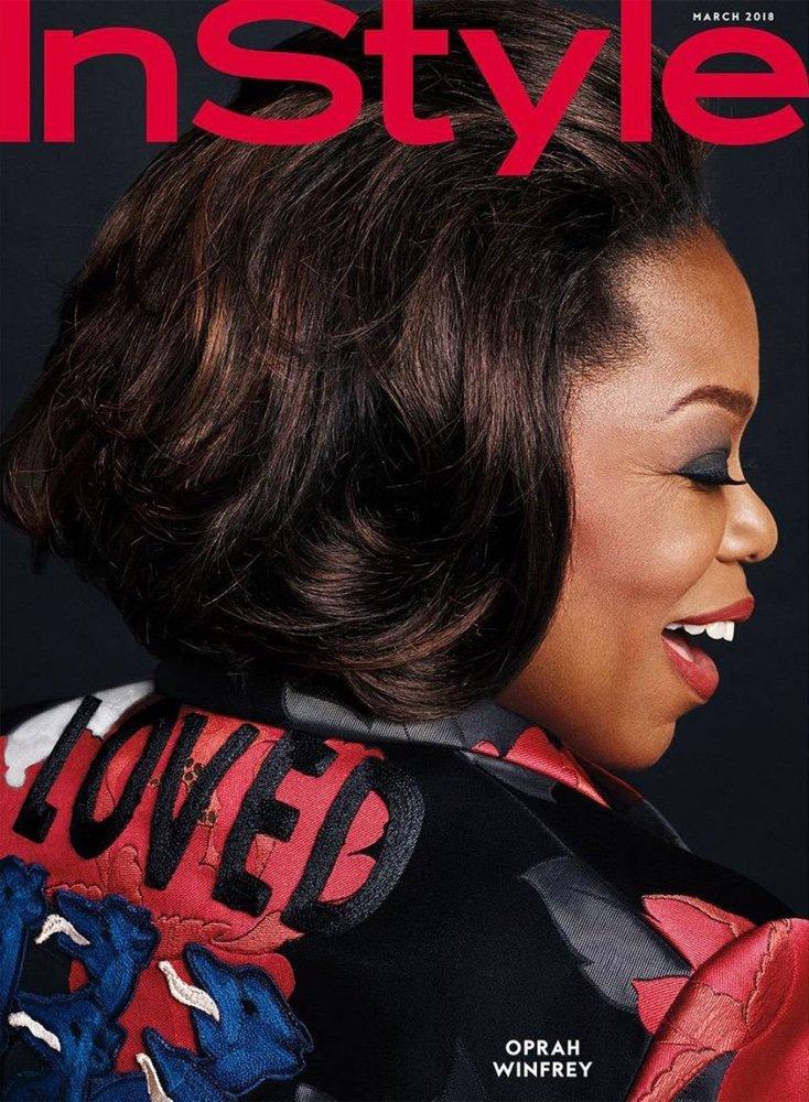 Oprah Winfrey graces InStyle Magazine March 2018 Issue
