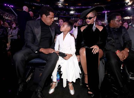 Photos of Jay Z, Beyonce and Blue Ivy at the 2018 Grammy Awards