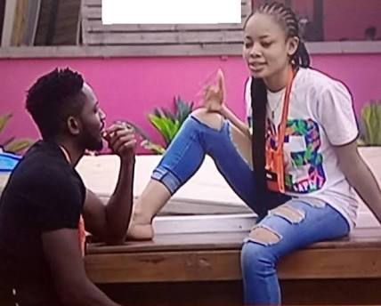 #BBNaija Miracle and Nina caught having a quickie in the bathroom