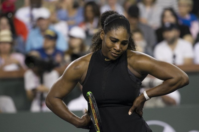 Serena Williams epic reaction to losing a point to Venus Williams at Indian Wells 2018