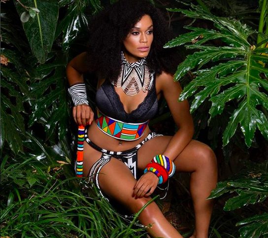 South African actress and model Pearl Thusi is all shades of stunning in a new photo shared on her IG page. The beauty showed off her curves in a princess-inspired African outfit. Gorgeous woman!