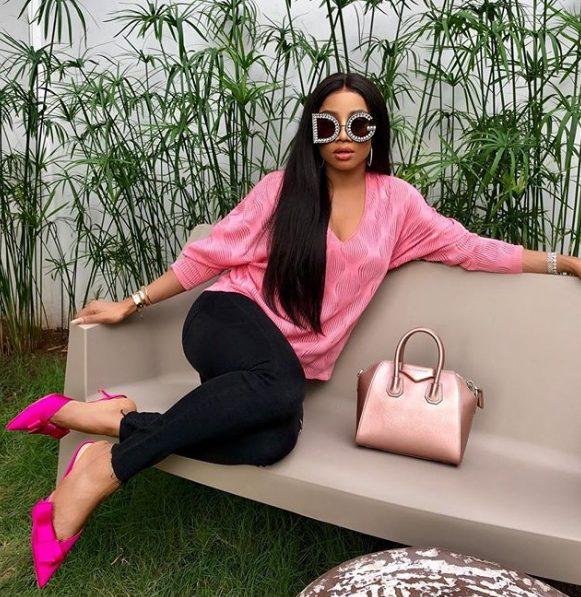 Toke Makinwa Wades into Anthony Joshua's comments about niece