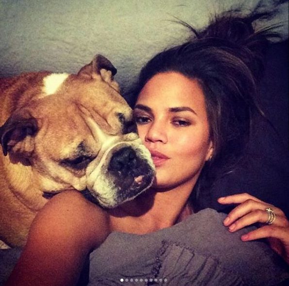 Chrissy Teigen mourns the death of her late bulldog
