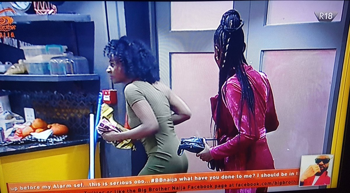 #BBNaija -Watch Khloe and Anto sneaking into Big Brother House at 3am this morning