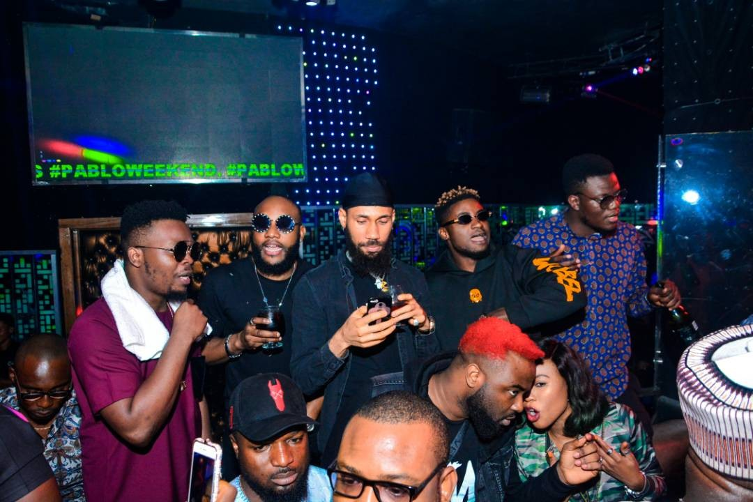 Olamide, Phyno, E-money Turn up for Kcee's birthday party