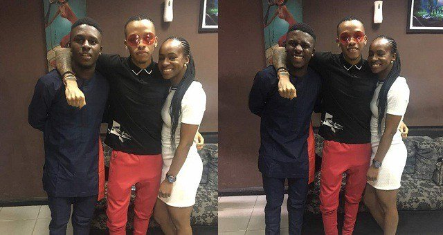 Ex Housemates Lolu And Anto meets with Singer Tekno