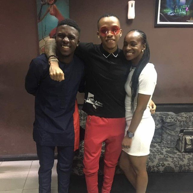 Ex Housemates Lolu And Anto meets with Singer Tekno (4)