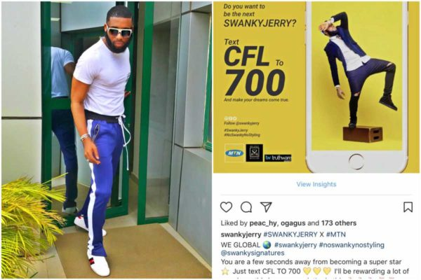 Jeremiah Ogbodo (SWANKYJERRY) bags endorsements deal with MTN