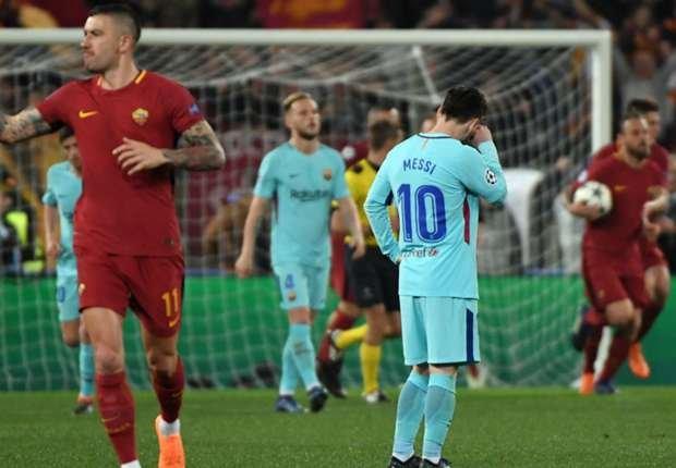 lionel messi barcelona roma champions