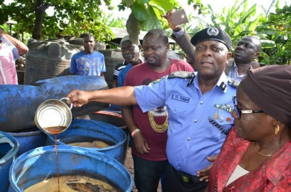 police uncover illegal brewery in ikorodu lagos lailasnews