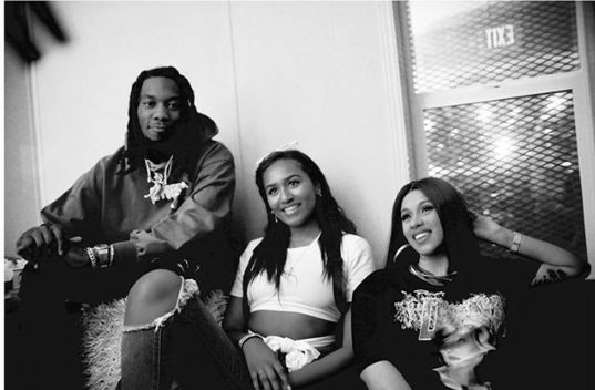 Sasha Obama looks quite unrecognizable as she poses with Cardi B and Offset – PHOTO