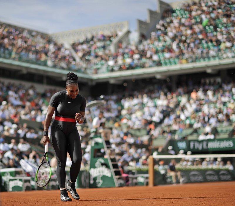 Serena Williams makes fashion statement in Grand Slam return
