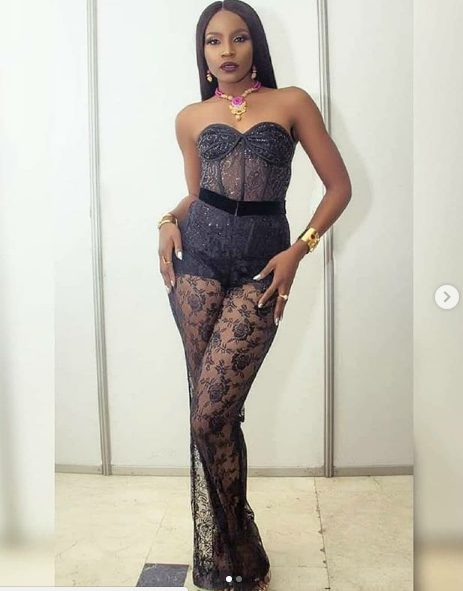 Photos of Seyi Shay's jaw-dropping sheer outfit to the headies 2018