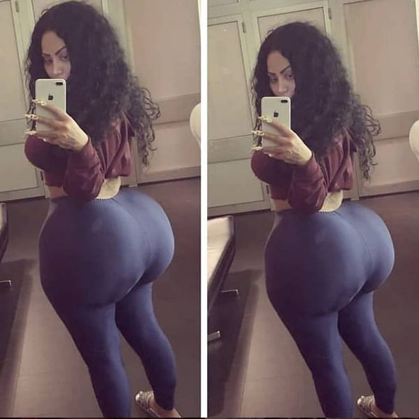 Slay queen shows off results of her butt implants