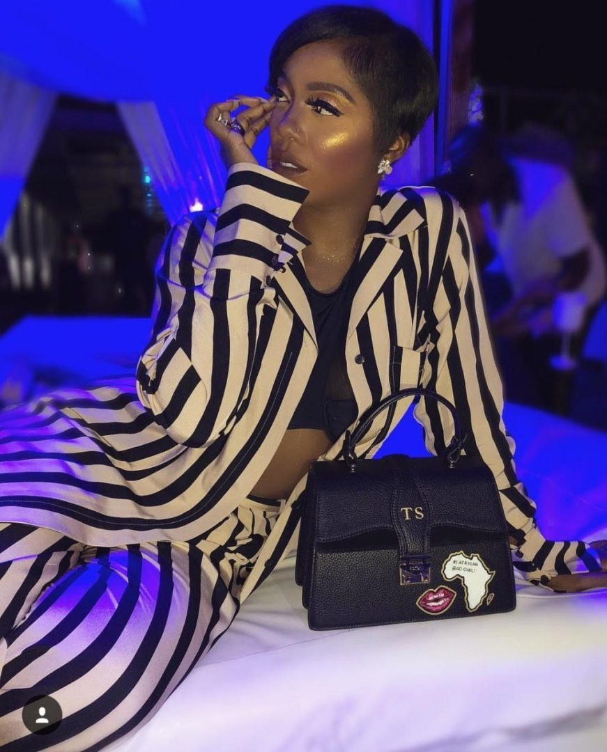 Tiwa Savage puts her n!pples on display as she steps out for an event!