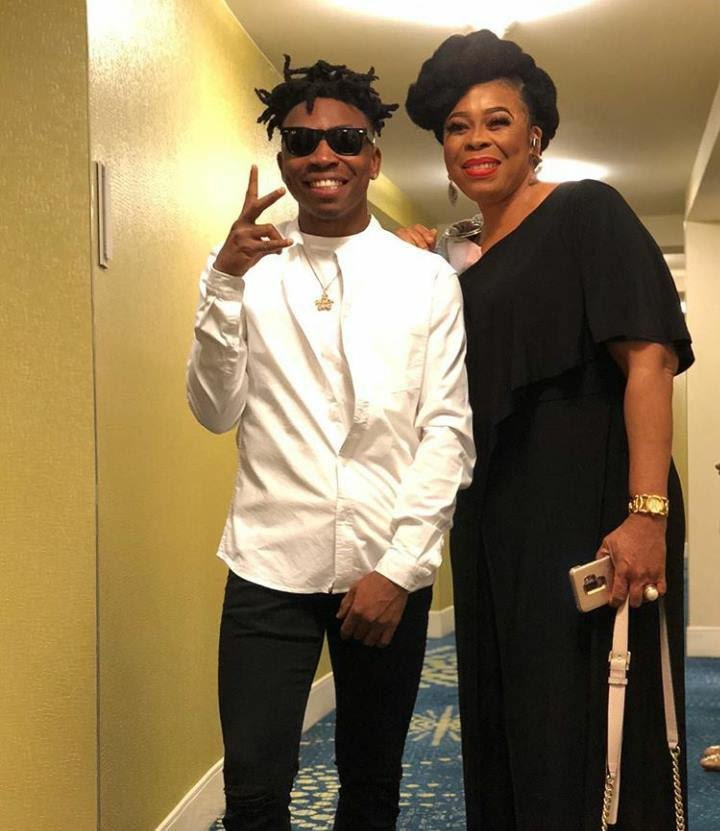 Mayorkun reunites with his mother in the US after two years apart (Photos)