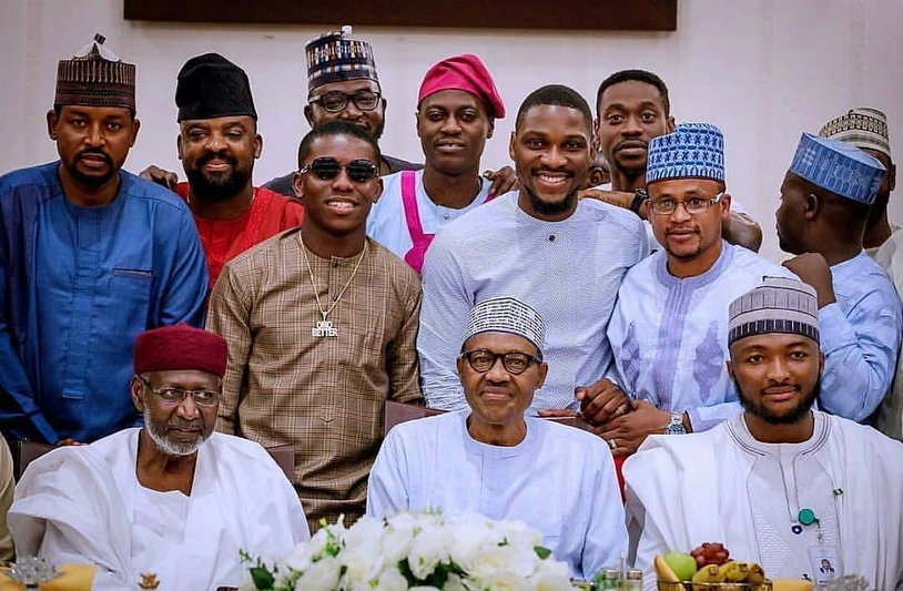 President Buhari breaks fast with select Nigerian celebrities including Small Doctor
