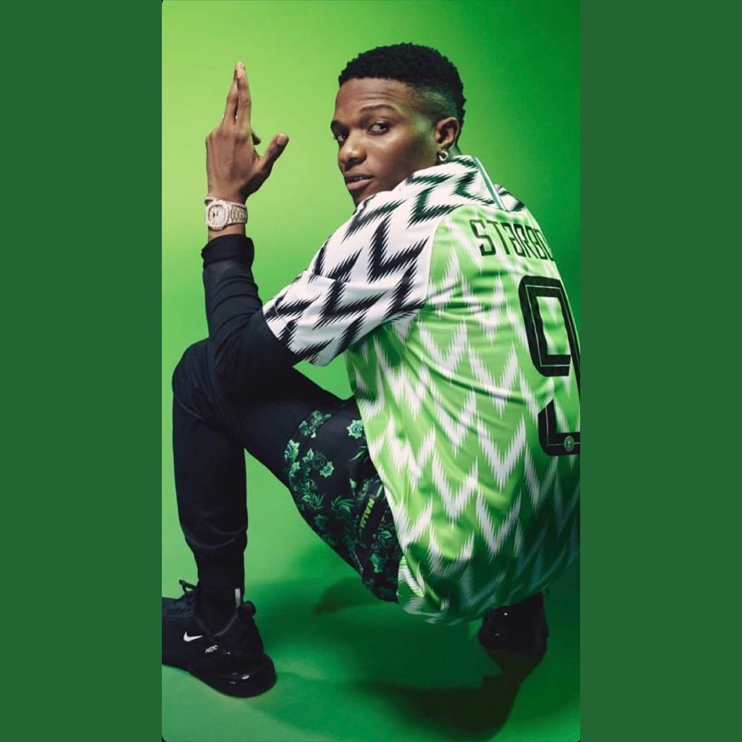 Checkout More Photos Of Wizkid Rocking The Super Eagles World Cup Jersey 1 1