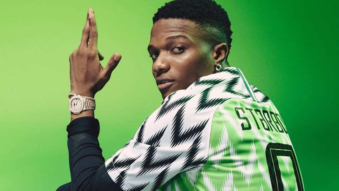 Checkout More Photos Of Wizkid Rocking The Super Eagles World Cup Jersey 1