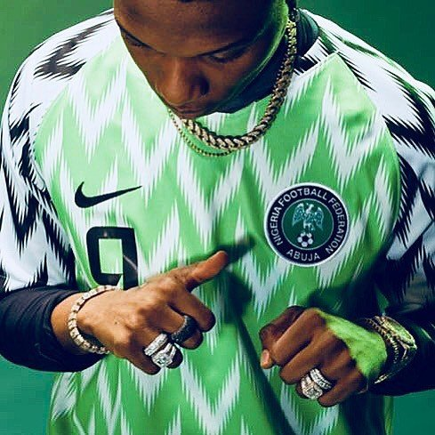 Checkout More Photos Of Wizkid Rocking The Super Eagles World Cup Jersey 2 1