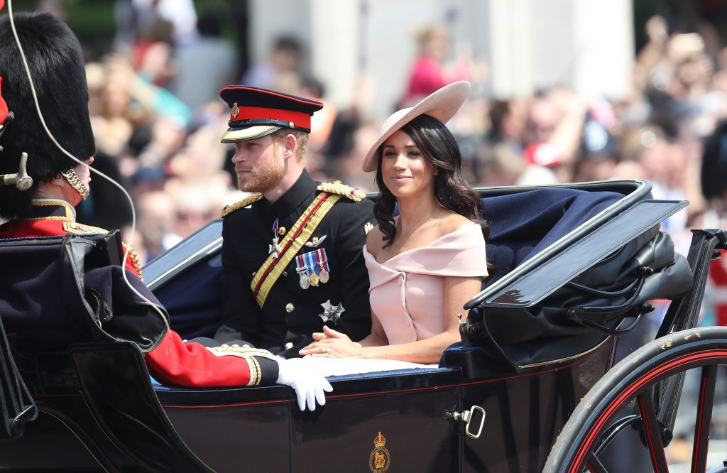Meghan Markle Is Pretty In Pink At Trooping The Colour Ceremony