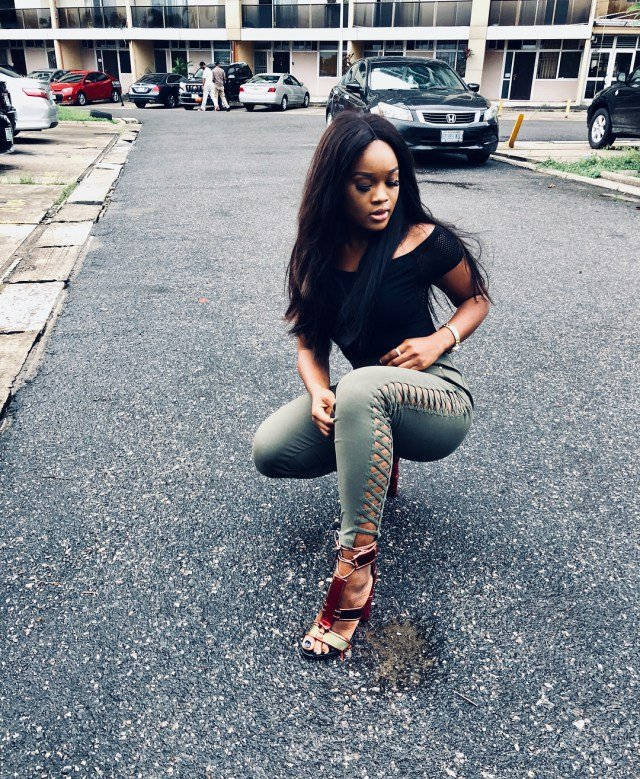 Bbnaija's Cee-C Slays Effortlessly In Laced Up Fashion Pants