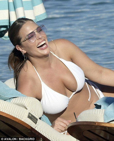Ashley Graham flaunts her Boobs and sizzling figure in barely there bikini 5
