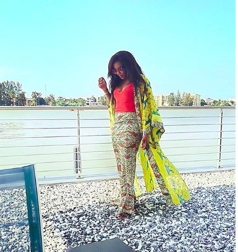 Genevieve Nnaji looking bad and boujee as Flaunts Cleavage In New Photo