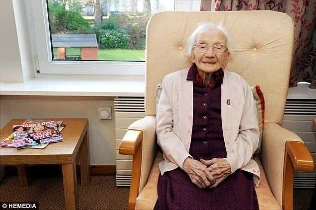 Oldest woman in UK shares tip to long life - Stay away from men