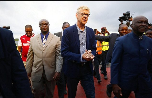 Arsene Wenger Lands in Liberia to Receive Highest Honour From George Weah