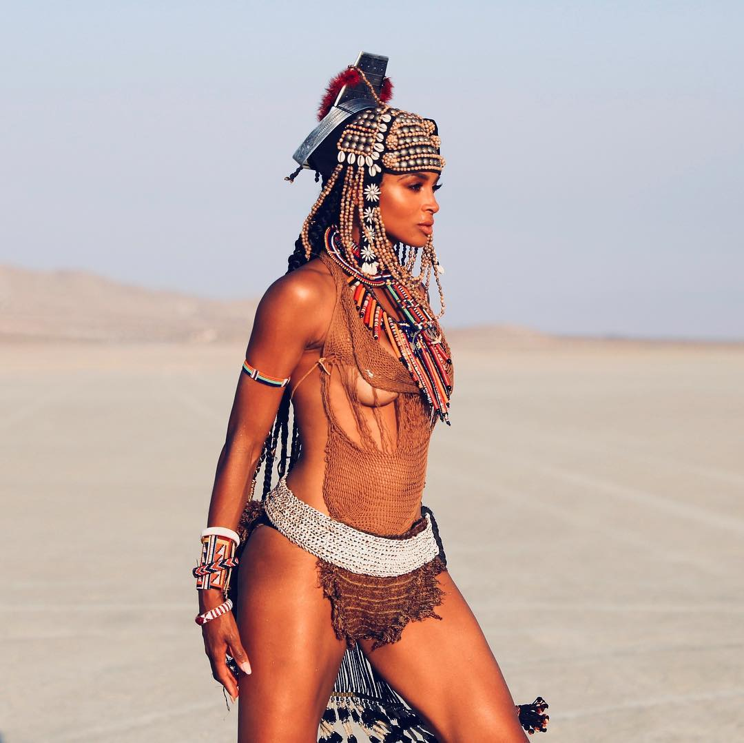 Ciara shares raunchy photos in sexy tribal costume